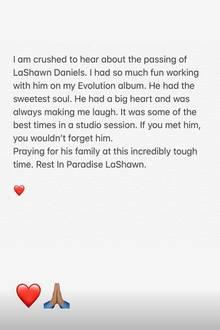 Sängerin Ciara veröffentlicht rührende Worte auf Instagram.