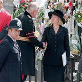US-First-Lady Hillary Rodham Clinton erscheint ebenfalls zur Trauerfeier in London, das aber ohne ihren Mann Bill Clinton.