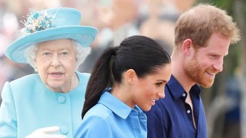 Herzogin Meghan + Prinz Harry: Warum der Palast das Paar jetzt besonders im Auge hat