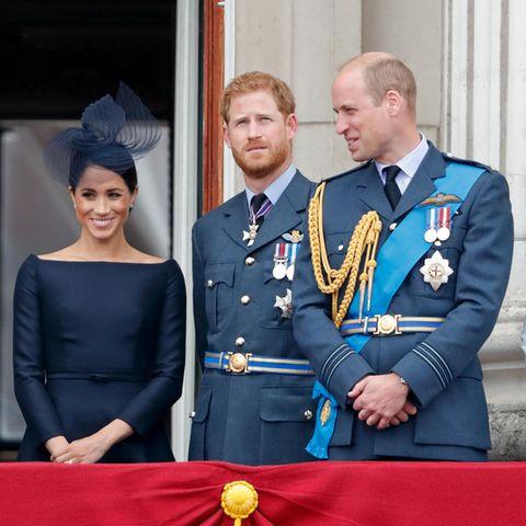 Queen, Herzogin Meghan, Prinz Harry, Prinz William, Herzogin Catherine