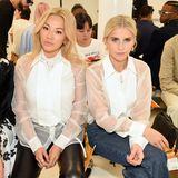 Fashion-Zwillinge in der Front Row bei Helmut Lang:Susie Lau, Tina Leung und Caroline Daur.