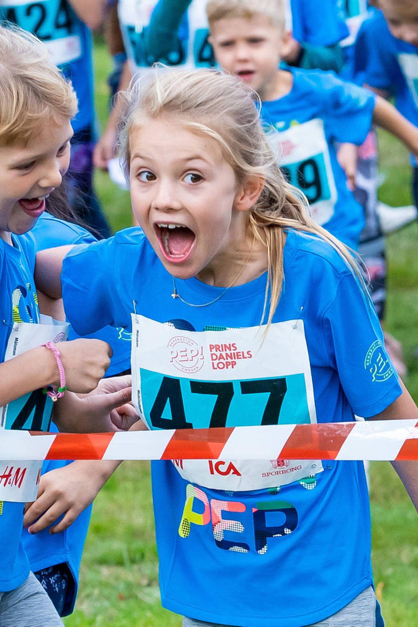 8. September 2019  Ganz aufgeregt steht Prinzessin Estelle mit ihren Freunden schon in den Startlöchern für den Prinz-Daniel-Lauf im Hagapark.