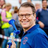 Der Namensgeber des Laufes Prinz Daniel gibt natürlich höchstpersönlich das Startsignal!
