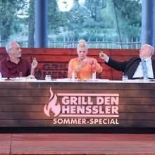V.l. die Jury: Christian Rach, Mirja Boes, Reiner Calmund