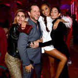 Derek Blasberg, Fashion und Beauty Director von Youtube, feiert mit Lily Aldridge und Joan Smalls.