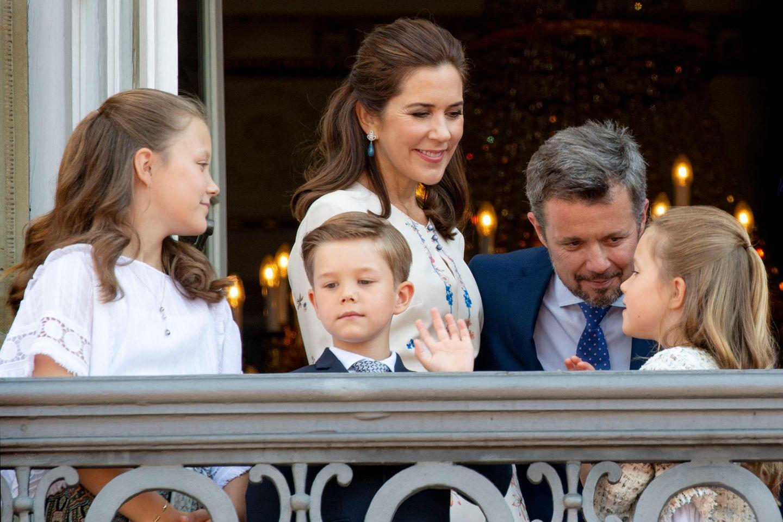 Prinzessin Isabella, Kronprinzessin Mary, Prinz Vincent, Kronprinz Frederik und Prinzessin Josephine