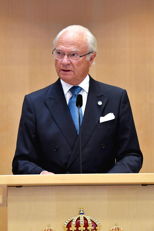 König Carl Philip hält seine Rede zur Parlamentseröffnung.