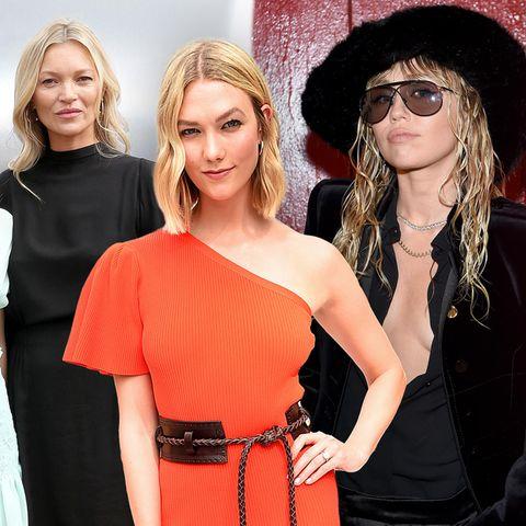 Lila + Kate Moss, Karlie Kloss + Miley Cyrus