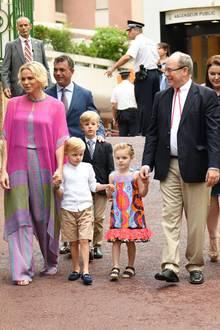 Fürstin Charlène, Prinz Jacques, Prinzessin Gabriella, Fürst Albert
