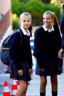 11. September 2019  Für Prinzessin Leonor und Prinzessin Sofía beginnt nach den Sommerferien wieder die Schule.