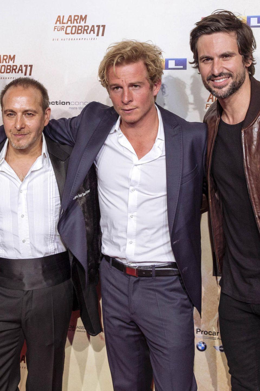 Mark Keller, Erdogan Atalay, Daniel Roesner, Tom Beck bei der Premiere der 300. Folge Alarm für Cobra 11