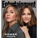 """… aber nunüberrascht sie mit brünetten Haaren!Zusammen mit Jennifer Aniston ziert Reese das aktuelle Cover des""""Entertainment Weekly""""-Magazins – die beiden Schauspielerinnenstandenfür """"The Morning Show"""" gemeinsam vor der Kamera."""