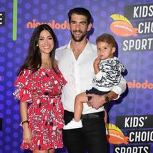 Nicole Johnson + Michael Phelps mit Sohn Robert
