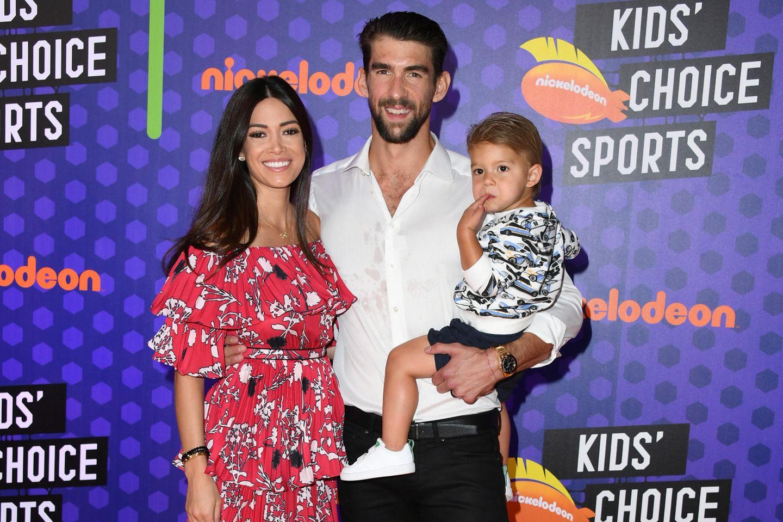 Nicole Johnson + Michael Phelps mit Sohn Robert