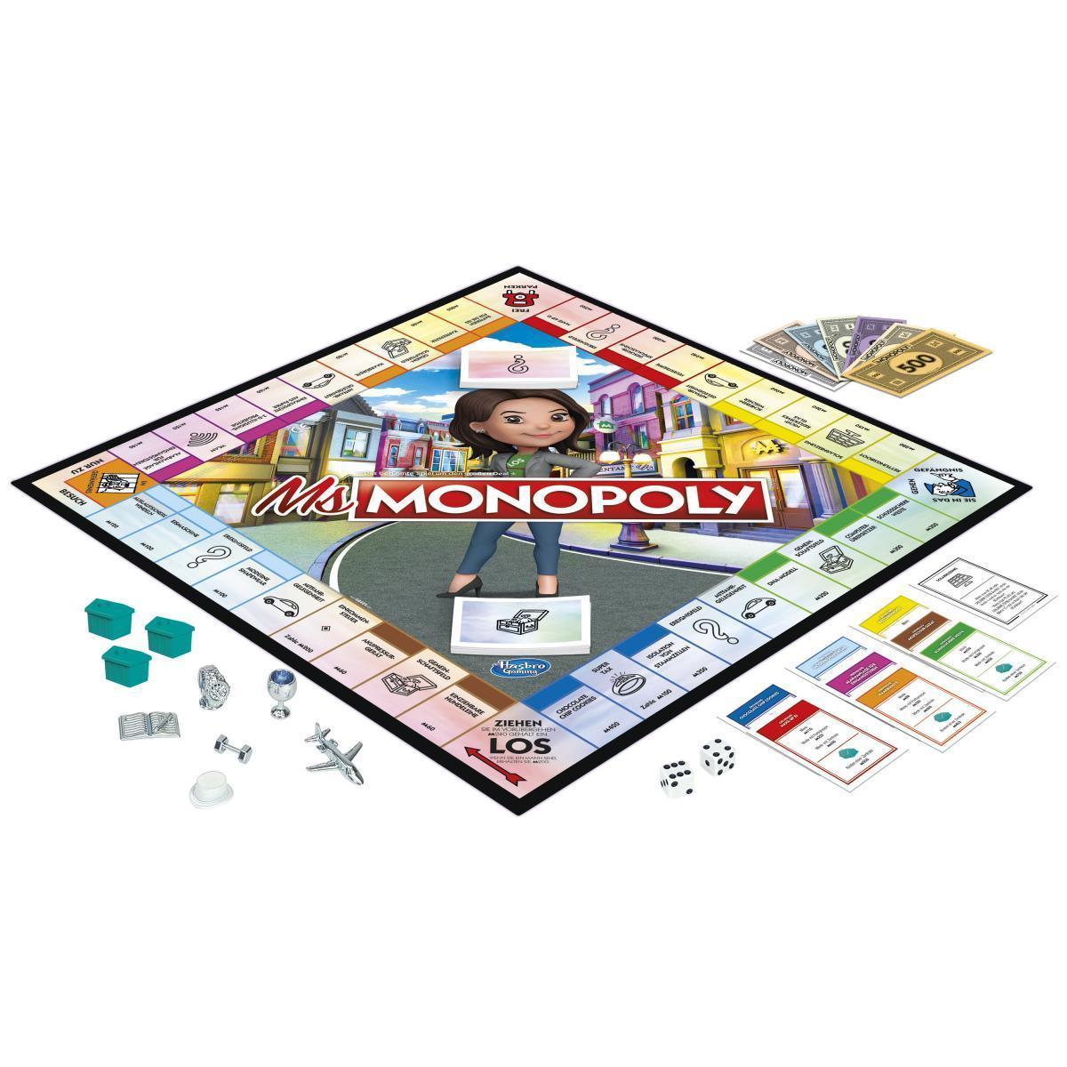 So sieht das Spielfeld von Ms Monopoly aus
