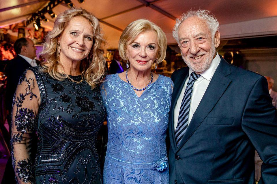 Christiane Zander, Liz Mohn und Dieter Hallervorden