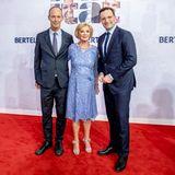 Bertelsmann-Vorstandsvorsitzende Thomas Rabe, Liz Mohn und Jens Spahn
