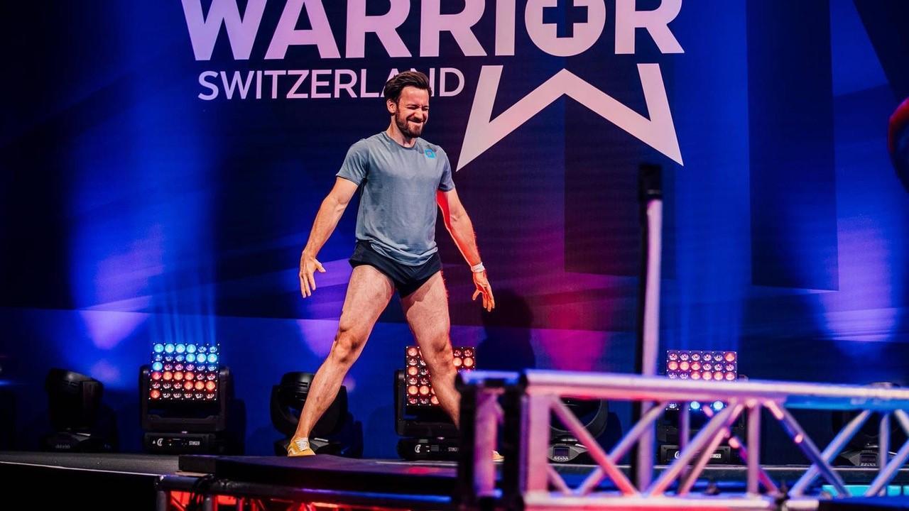 """Jan Köppen bei """"Ninja Warrior"""" in der Schweiz."""