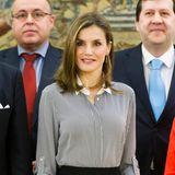 Februar 2017  Sie ist ein Vorbild fürviele spanische Frauen: Letizia trifft mit ihrem Look immer den Nerv der Zeit.