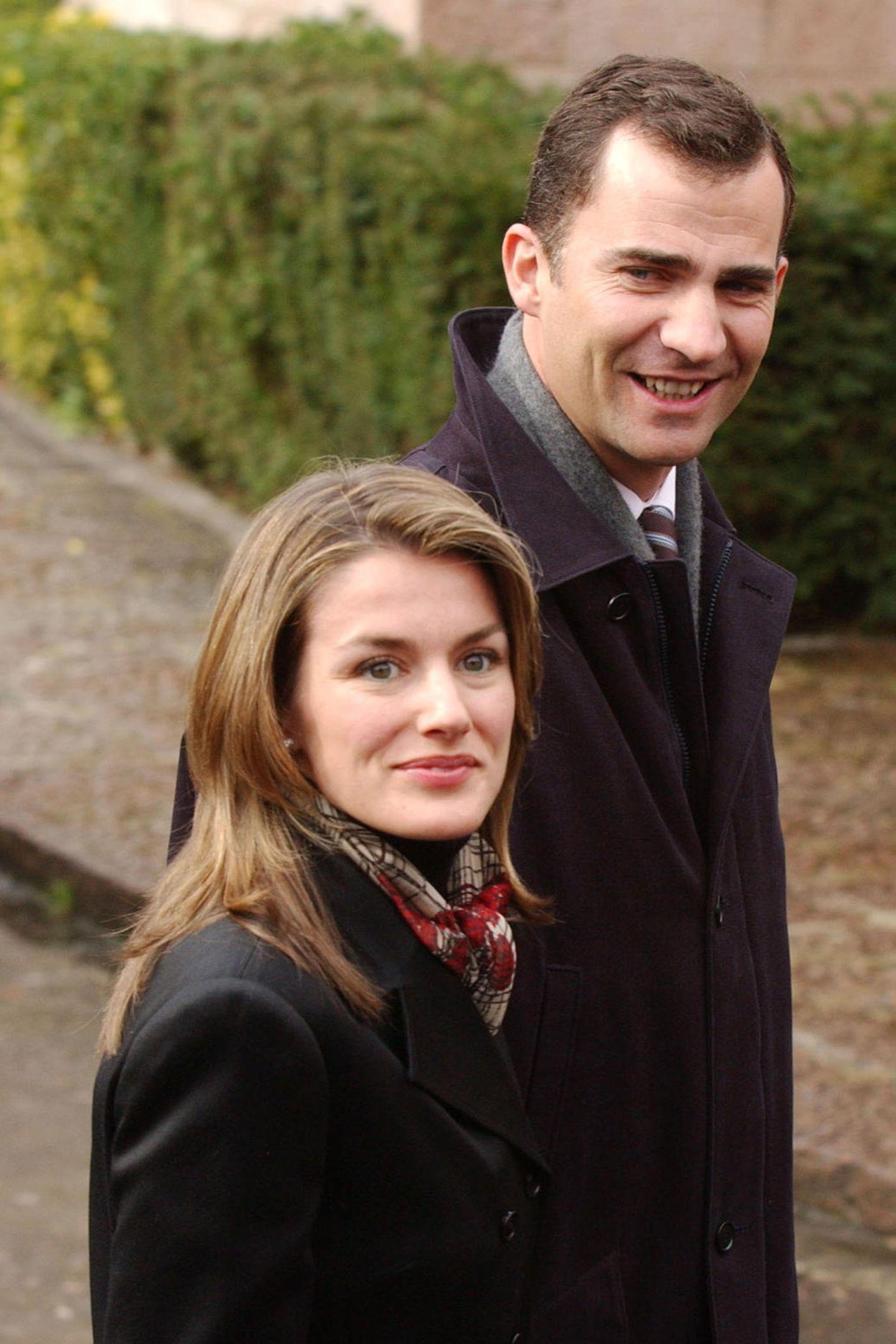 Januar 2004  Das Paar in ihren Anfangsjahren: Letizia damals noch mit auffällig blonderem Haar.