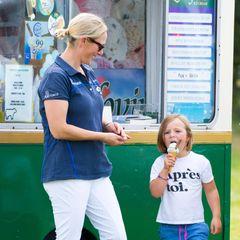 15. September 2019  Wer so ein Energiebündel ist wie Mia Tindall braucht von Mama Zara auch unbedingt ein Eis.