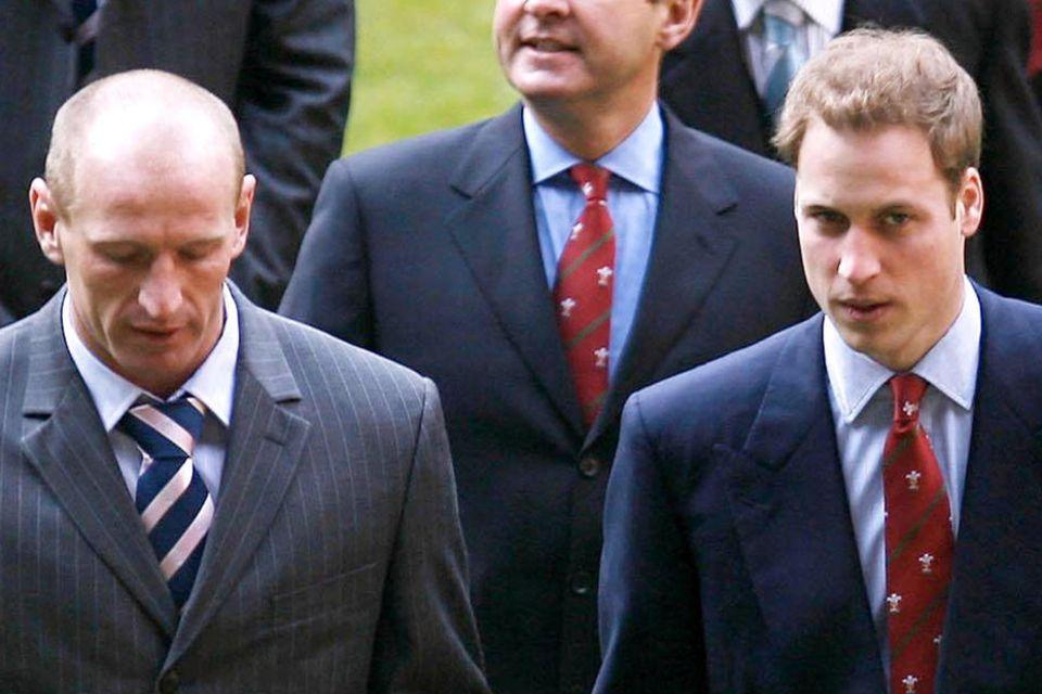 Gareth Thomas und Prinz William im Februar 2007
