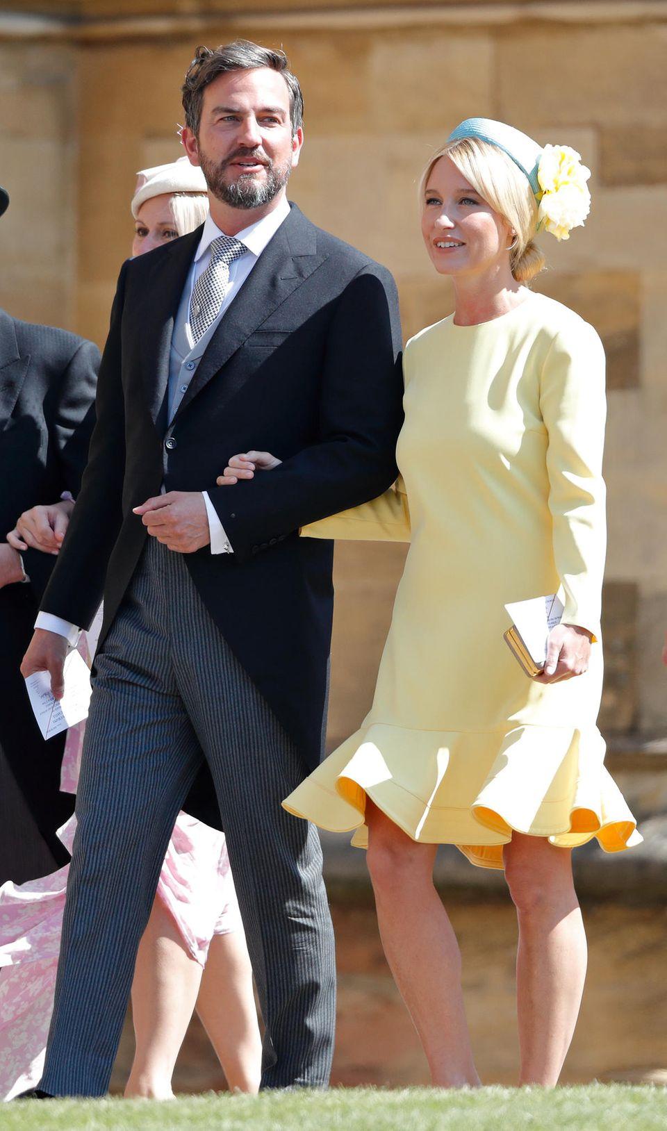 Isabel May (rechts) soll die Taufpatin von Archie Mountbatten-Windsor sein. Zur Hochzeit von Meghan und Harry im Mai 2018 kam sie mit Meghans Freund Markus Anderson.