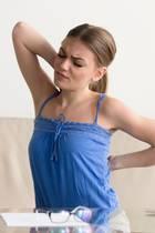 Rückenschmerzen, Schmerz, Beschwerden, Frau