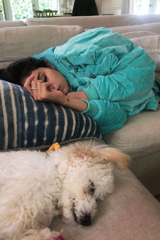 Auch Selena Gomez und ihr Hund Winnie wissen ein Nickerchen am Nachmittag zu schätzen.