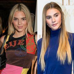 … nämlich Stefanie Giesinger! Braune Reh-Augen, markante Brauen, sinnlicher Mund – und nun auch die Haarfarbe. Beide könnten glatt als Schwestern die Modewelt dominieren.