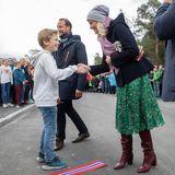 Dort besuchen Haakon und Mette-Marit eine Schule.