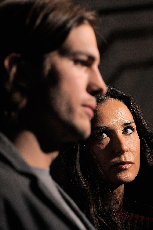 Ashton Kutcher und Demi Moore im April 2011