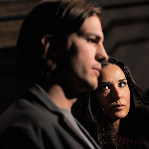 Ashton Kutcher und Demi Moore im April 2011