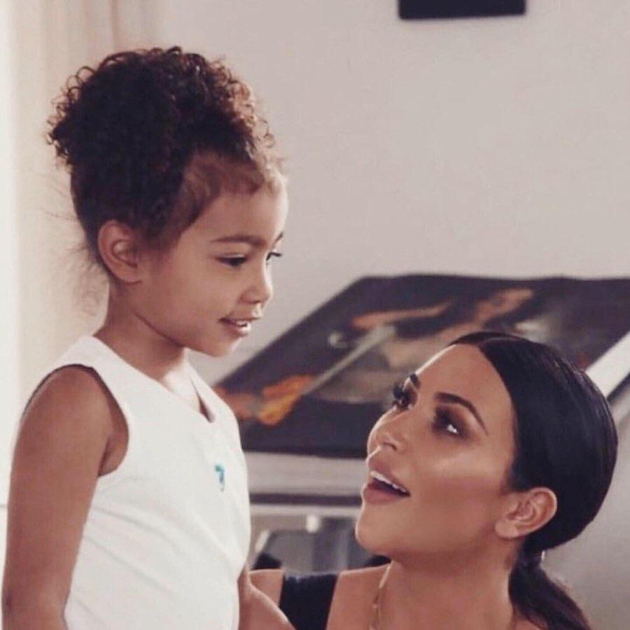 Kim mit Töchterchen North