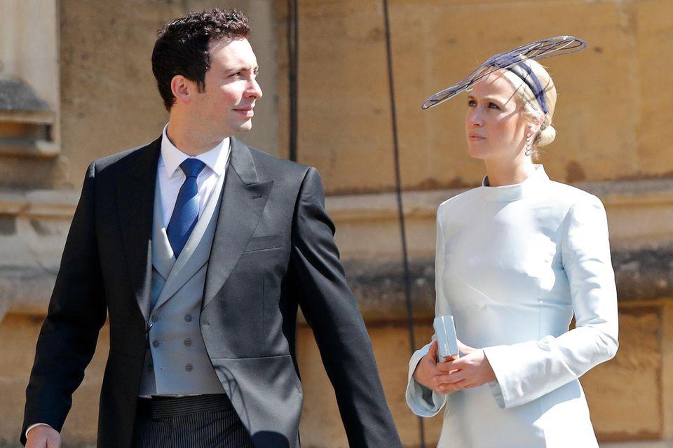 Michael Hess und Misha Nonoo bei der Hochzeit von Prinz Harry und Herzogin Meghan im Mai 2018.