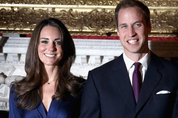 Kate und William bei ihrer Verlobung 2010.