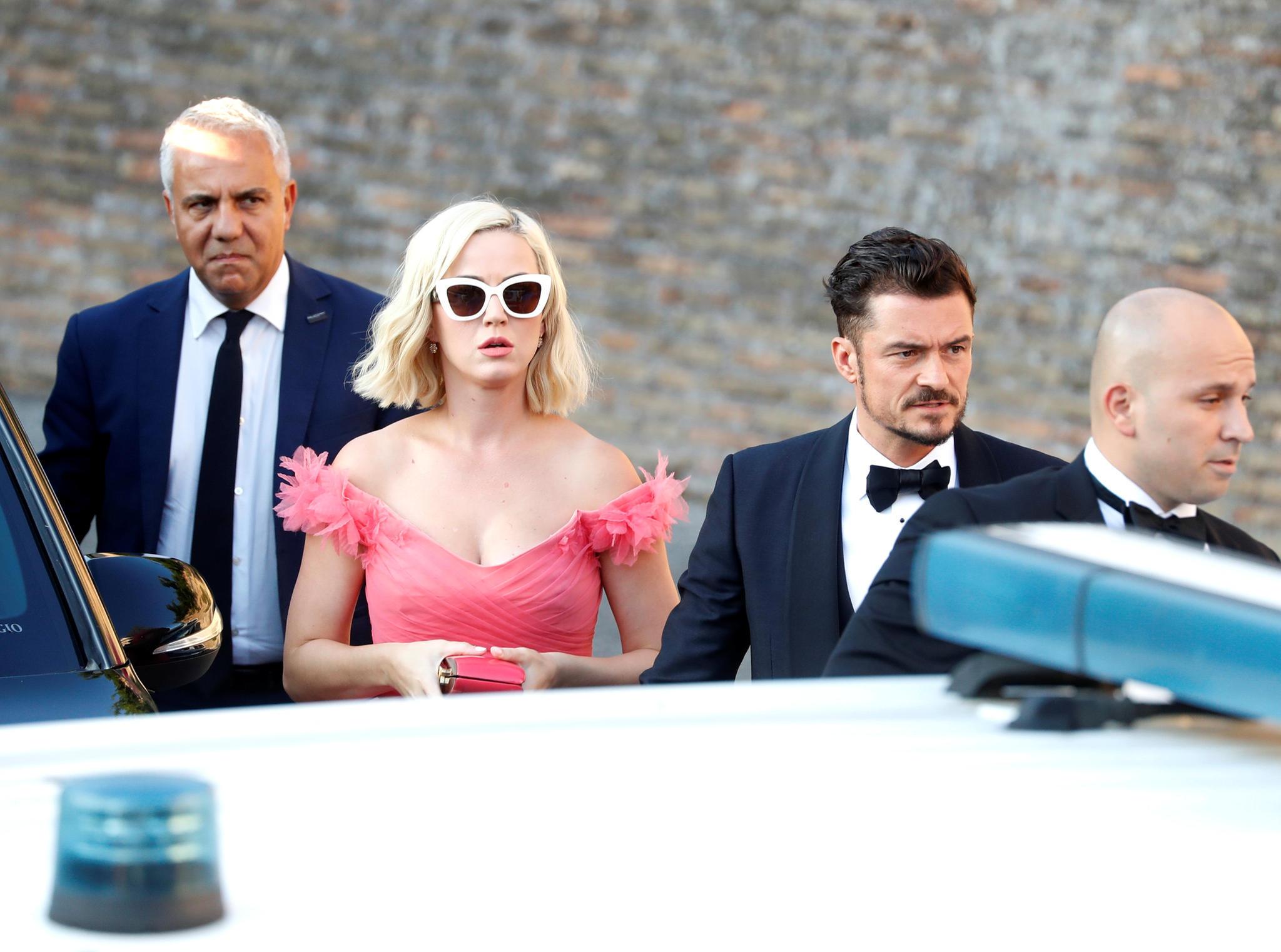 Katy Perry und Orlando Bloom sind zur Hochzeit nach Rom gekommen.