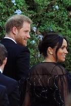 Prinz Harry und Herzogin Meghan bei der Hochzeit von Misha Nonoo.