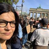 "AuchJasmin Tabatabai gehört zu den Anhängern der ""Fridays For Future""-Bewegung in Berlin."