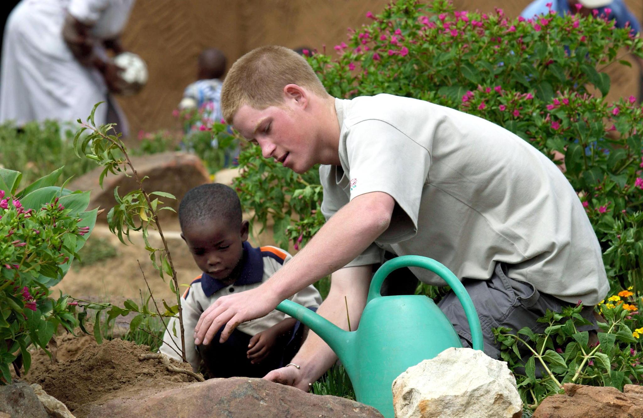 Prinz Harry 2003 in Lesotho.