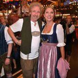 Für Thomas Gottschalk und seine neue Partnerin Karina Mroß sind es die ersten gemeinsamen Wiesn.