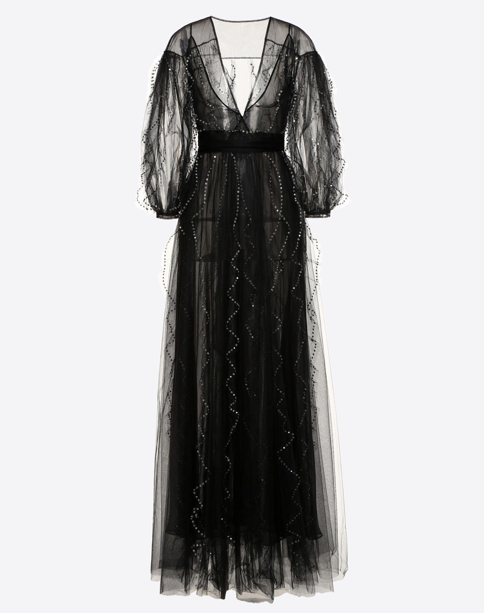 Das bestickte Kleid aus Seide und Tüll stammt vom italienischen Luxuslabel Valentino und kostet umgerechnet rund 12.300 Euro.