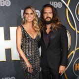 Heidi Klum beeindruckt bei der Emmy-Party von HBOin einem Kleid von Rami Kadi nicht nur ihren Mann Tom mit ihrem Dekolleté.
