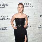 Perfekten Party-Glamour zeigt Rachel Brosnahan beim Aftershow-Event von Amazon Prime Video.