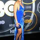 Malin Akerman macht bei der HBO-Party blau.