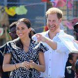 Prinz Harry + Herzogin Meghan: Herzogin Meghan und Prinz Harry nehmen den ersten Termin ihrer Reise ohne Baby Archie wahr. Dieser war mit seiner Nanny im Hotel geblieben.