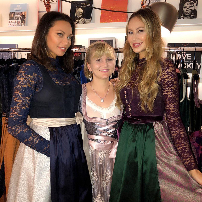 Lilly Becker und Alessandra Meyer-Wölden mit Gala.de-Redakteurin Jolla