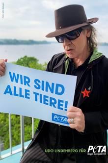 Kultrocker Udo Lindenberg ist schon lange Unterstützer derTierrechtsorganisation. Zum 25-jährigen Jubiläum von Peta gab's vom fleischfrei lebenden Sänger und Maler eines seiner berühmten Gemälde.
