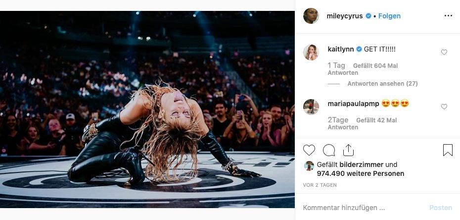 """Kaitlynn Carter kommentiert Miley Cyrus' sexy Posting mit einemanfeuernden """"Get it!"""""""