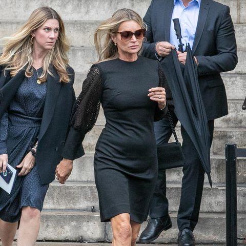 Viele Stars wie Supermodel Kate Moss (vorn) sind zu der Beerdigung gekommen.